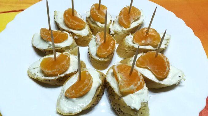 Jednohubky s mandarinkami